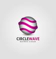 circle wave logo template vector image