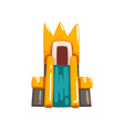 colorful inflatable castle with slide summer vector image