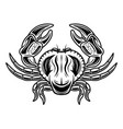 crab object or element in vintage style vector image