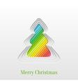 creative christmas tree vector image vector image