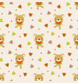 cute bear hold watermelon seamless pattern lovely vector image