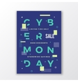 Cyber Monday Minimal Swiss Style Poster Modern vector image