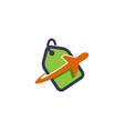 deal airplane label creative air design logo vector image