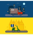 Delivery transport cargo logistic truck and vector image vector image