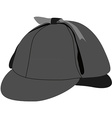 Detective hat vector image vector image