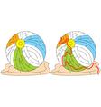 Easy beach ball maze vector image vector image