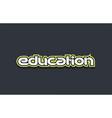 education word text logo design green blue white vector image vector image