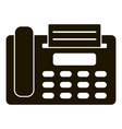 fax telephone icon simple style vector image vector image