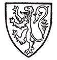 fitzalan earl of arundel bore gules a lion gold vector image vector image