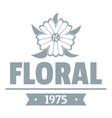 flower wedding logo simple gray style vector image