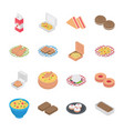 food and bakery icons vector image