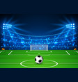 football stadium with a ball soccer field in the vector image