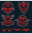 football team crests set with eagles design vector image vector image