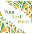 Frame for your text vector image vector image