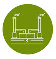 geothermal power plant icon in thin line style vector image vector image