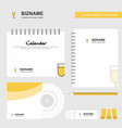 glass logo calendar template cd cover diary and vector image vector image