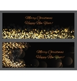 Gold sparkles Banners Abstract Beauty Merry