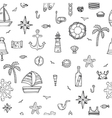 Hand drawn seamless nautical pattern Nautical vector image vector image