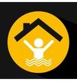 hand holding swimmer design vector image