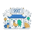 Happy New Year 2017 - holiday poster with a vector image vector image