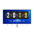 happy new year 2019 flip countdown timer vector image vector image