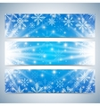 Happy New Year Banners Blue background with vector image