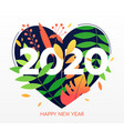 happy new year flat banner template vector image