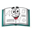 Happy smiling cartoon school textbook vector image vector image