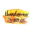 happy thanksgiving postcard vector image