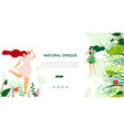 horizontal flat banner natural unique lifestyle vector image vector image