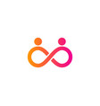 infinite people logo icon design vector image