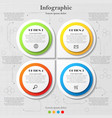 infographic with four options vector image vector image
