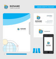 internet business logo file cover visiting card vector image vector image