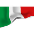 italy national waving flag isolated on white vector image vector image