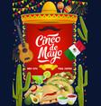 mexican cinco de mayo fiesta celebration food vector image vector image