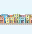 modern houses in the suburb vector image