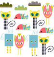 monsters seamless pattern it is located in swatch vector image vector image