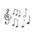 music notes notation tablature of sounds sketch vector image