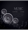 music speakers black poster design vector image
