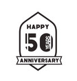 number 50 for anniversary celebration card icon vector image vector image
