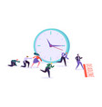 office deadline business characters competition vector image vector image