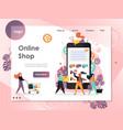 online shop website landing page design vector image vector image