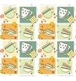 pattern - breakfast vector image