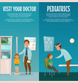 pediatrician and kid vertical banners vector image