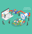 programmatic advertising flat isometric vector image vector image