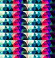retro circle seamleess texture vector image