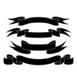 ribbon banners black icons set vector image