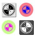 roulette casino wheel flat icon vector image