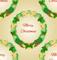 Seamless texture Merry Christmas wreath vector image