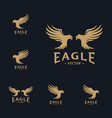 set eagle logo design eagle logo design vector image